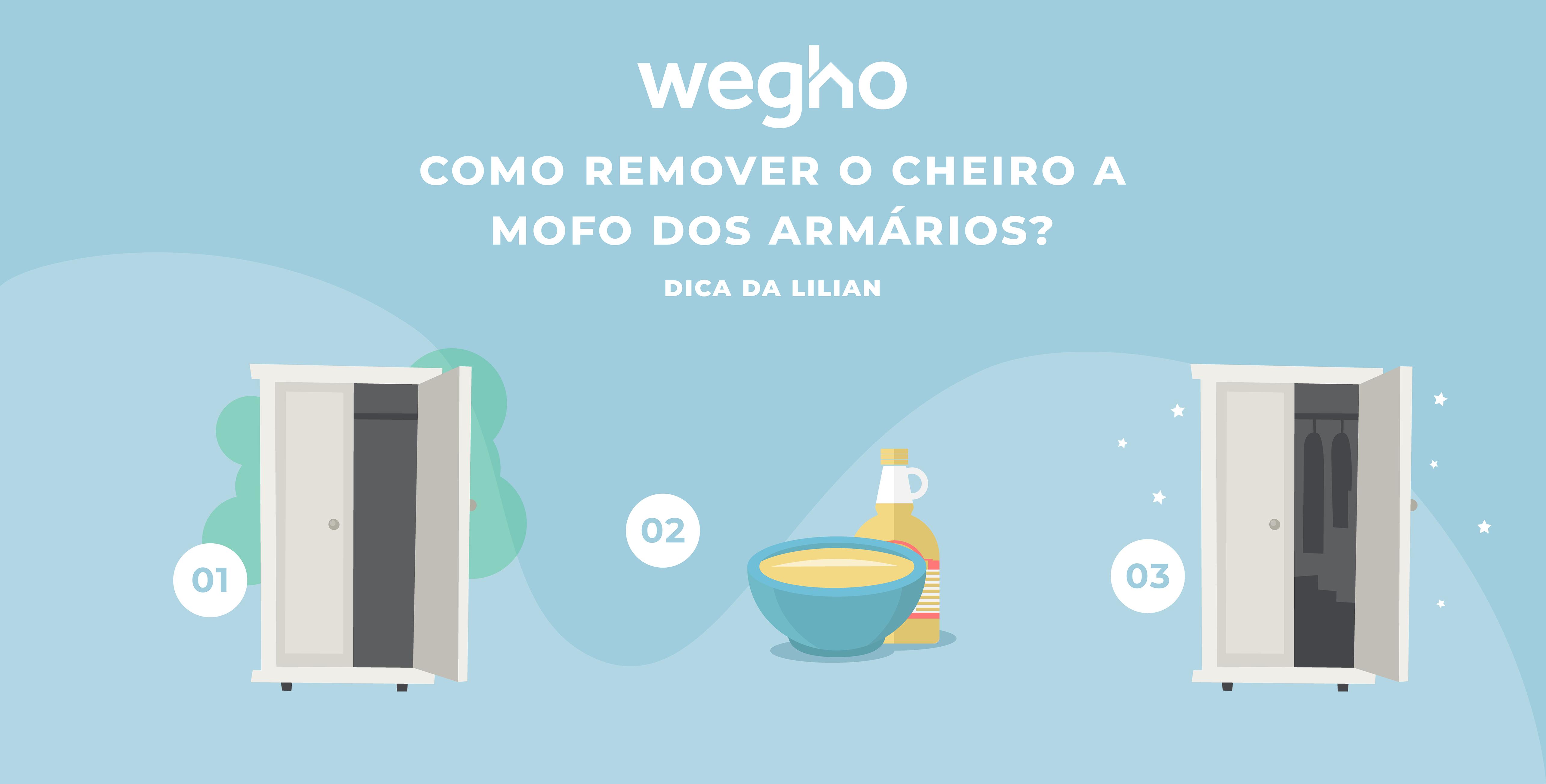 Como remover o cheiro a mofo dos armários?