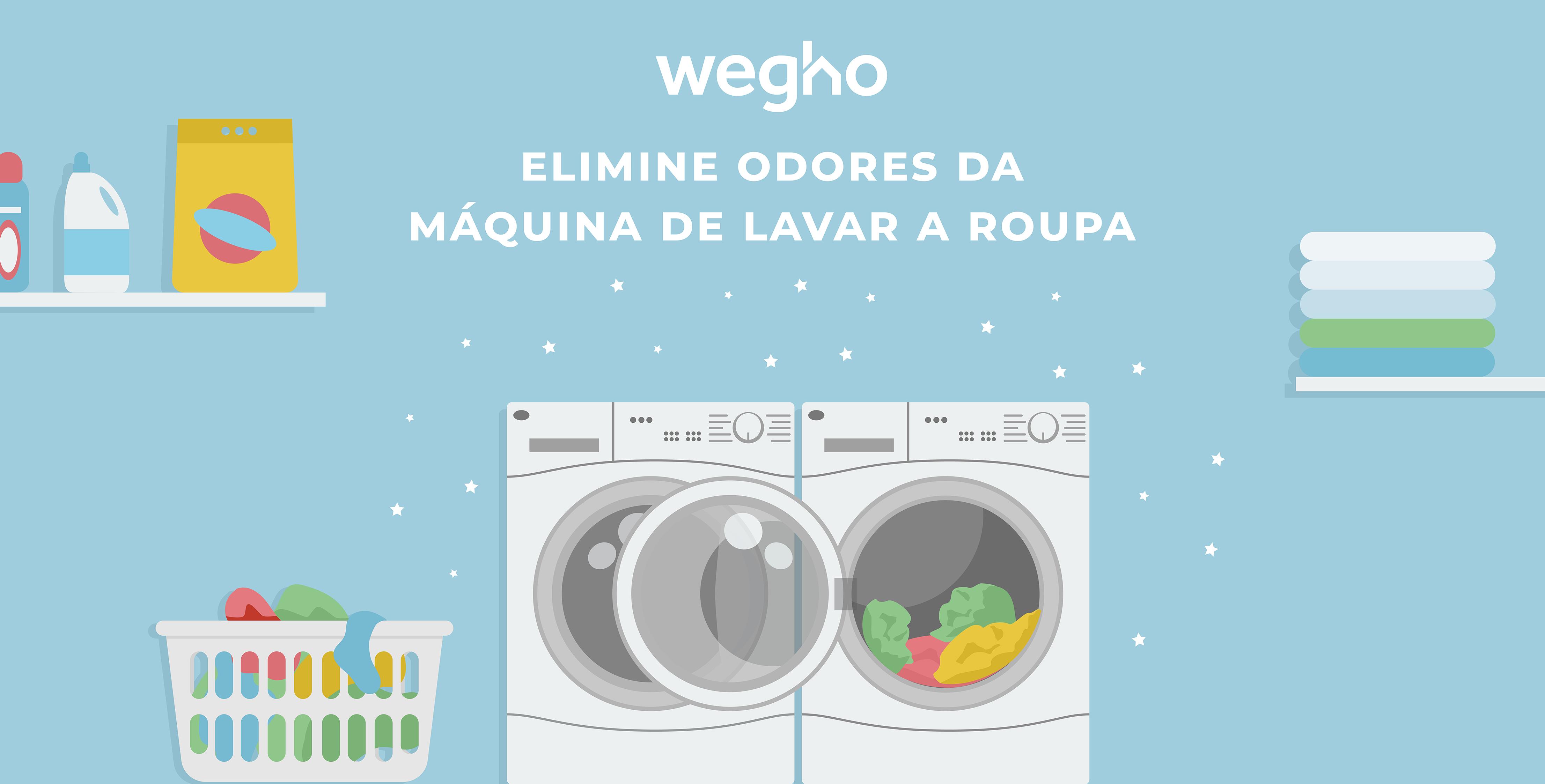 Elimine odores da máquina de lavar roupa