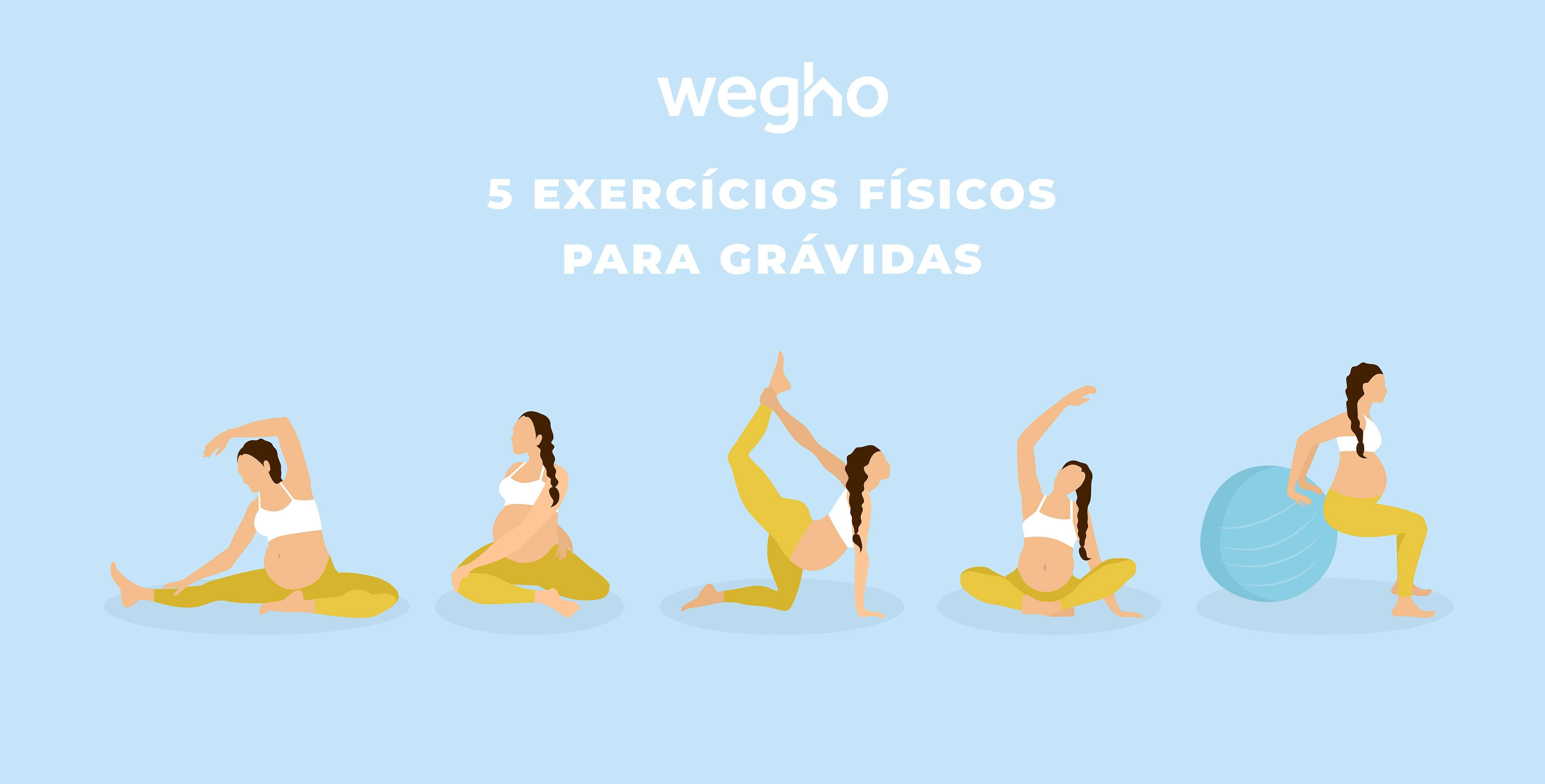 Exercício físico no verão: 5 exercícios para grávidas ; mulher grávida a fazer exercícios físicos, alongamentos e com uma bola de pilates