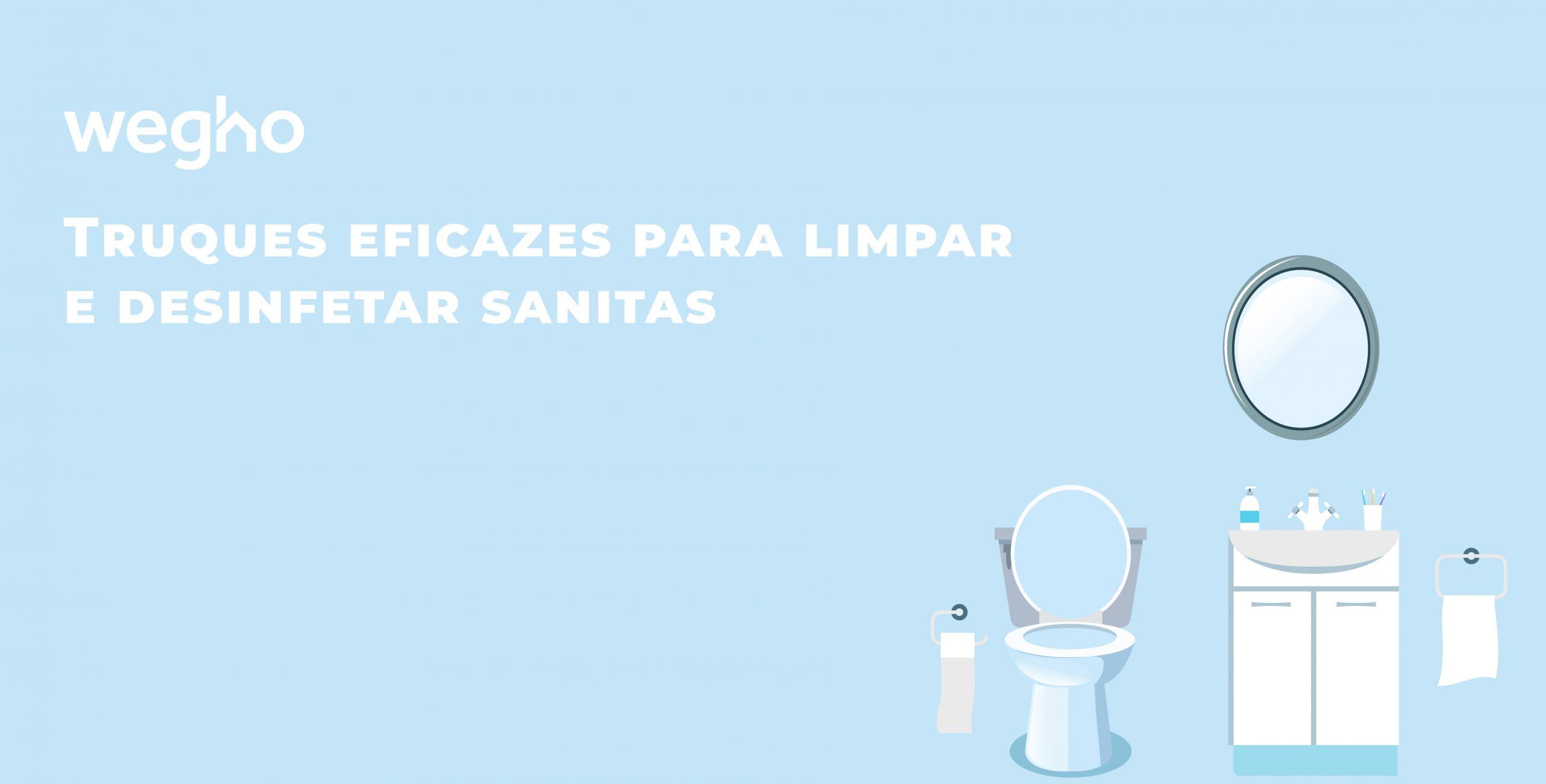Truques eficazes para limpar e desinfetar sanitas