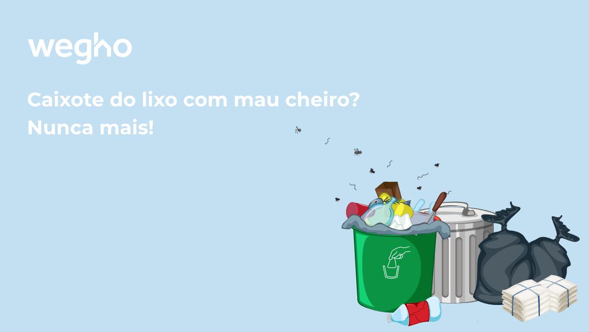 tirar mau cheiro do caixote do lixo